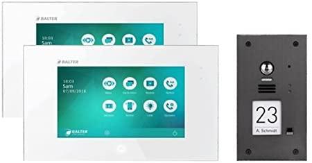 Die Balter Evida können Sie für ein Einfamilienhaus auch mit zweo Monitoren erwerben