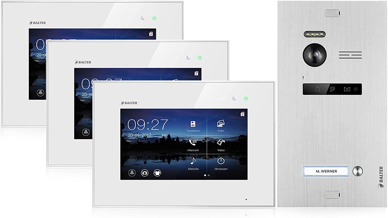 Die Balter Evo Video Türsprechanlage können sie auch mit 3 Monitoren erwerben