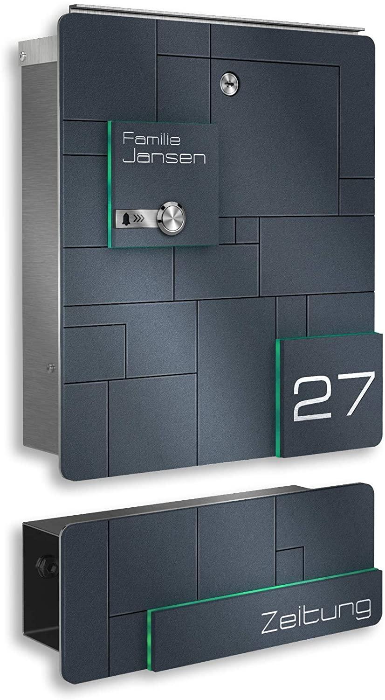 Eine Funkklingel, die direkt in einem Briefkasten integriert ist, nimmt an der Haustüre weniger Platz weg