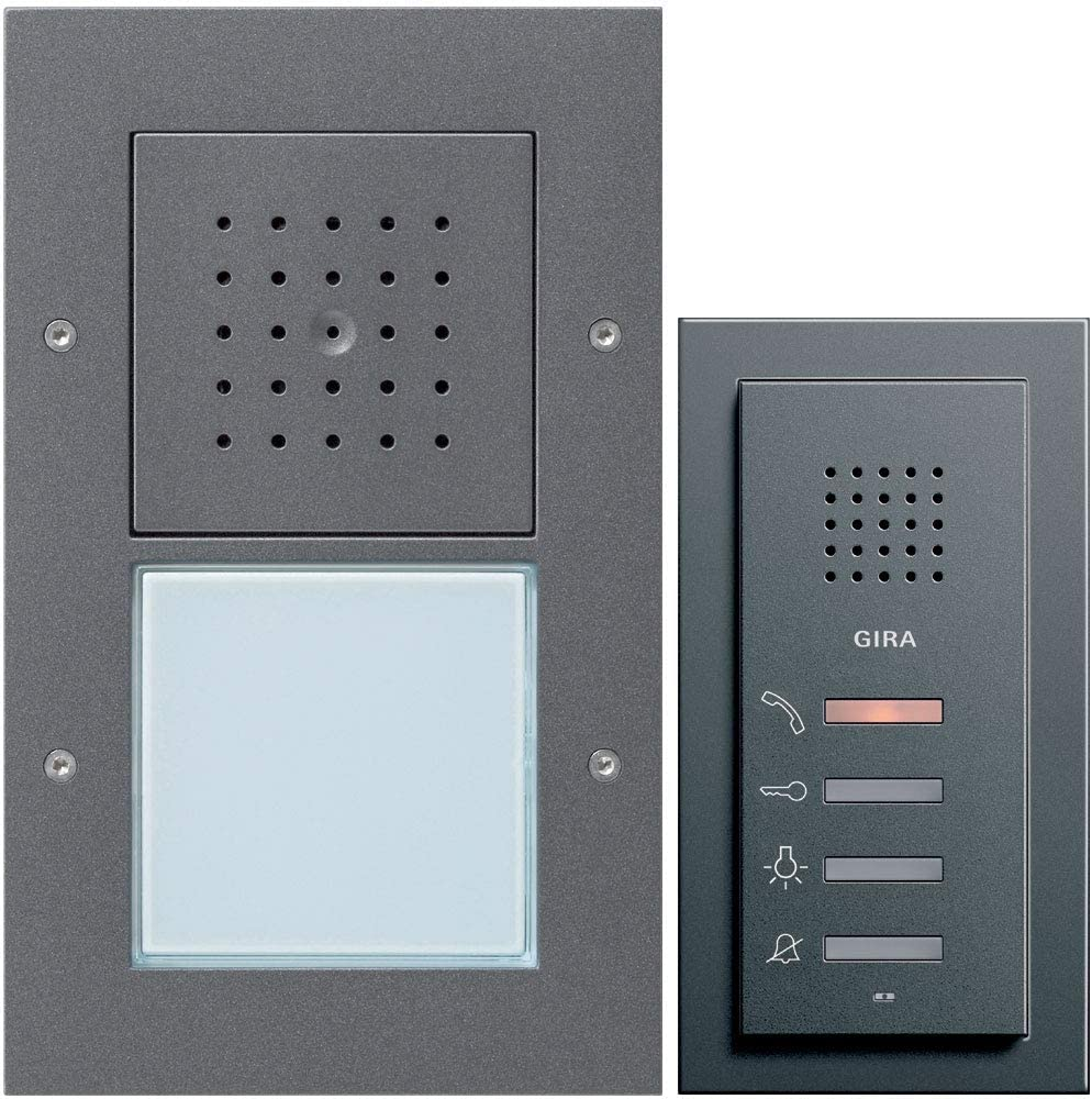 Die Gira 049543 2-Draht-Sprechanlage ist auch in Anthrazit verfügbar